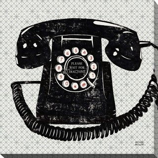 Vintage Analog Phone' Giclee Stretched Canvas Wall Art