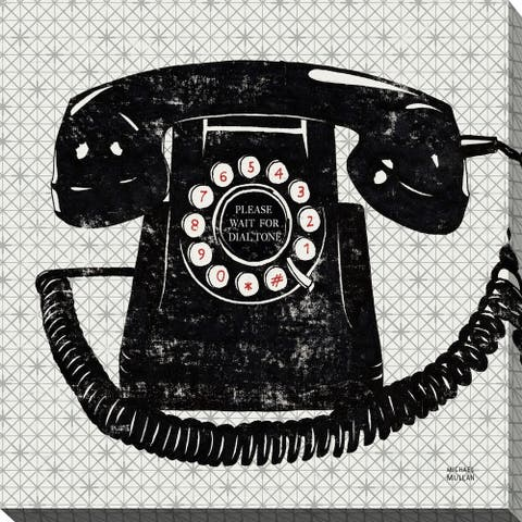 """""""Vintage Analog Phone"""" Giclee Stretched Canvas Wall Art"""