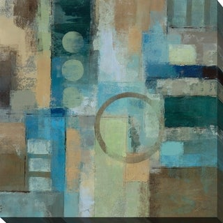 Blue & Green Abstract' Giclee Stretched Canvas Wall Art