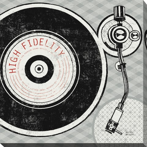 """""""Vintage Analog Record Player"""" Giclee Stretched Canvas Wall Art"""