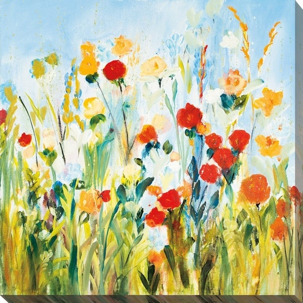 Wildflower Afternoon' Giclee Stretched Canvas Wall Art
