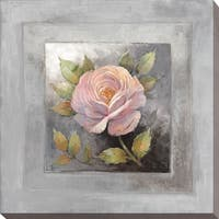 """Roses on Gray IV"" Giclee Stretched Canvas Wall Art"