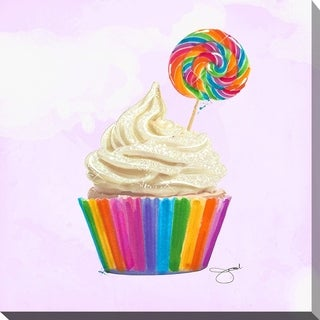 BY Jodi 'Cupcake 1' Giclee Stretched Canvas Wall Art