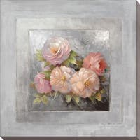 """Roses on Gray III"" Giclee Stretched Canvas Wall Art"