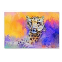Jai Johnson 'Colorful Expressions Snow Leopard' Canvas Art