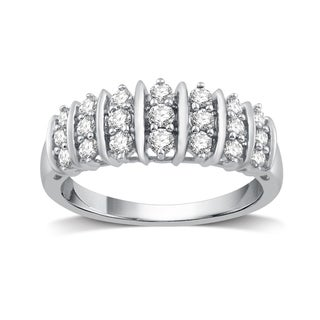 1/2 CTTW Diamond Fashion Ring Sterling Silver (I-J, I2-I3) - White I-J
