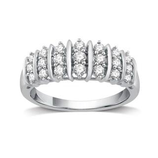 1/2 CTTW Diamond Fashion Ring Sterling Silver (I-J, I2-I3) - White I-J (5 options available)