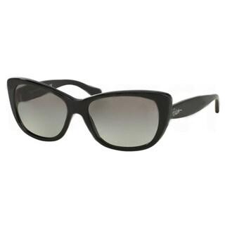 Polo Ralph Lauren Cateye RA5190 Women Black Frame/ Polarized Grey Lens Sunglasses