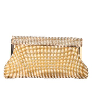 Diophy Sparkle Blinged Jewerly Studded Clasp Closure Clutch
