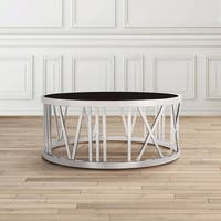 Thea Contemporary Metal Round Coffee Table
