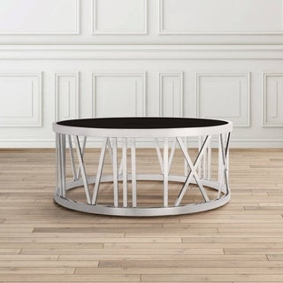 Thea Contemporary Metal Round Coffee Table (2 options available)