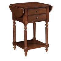 Powell Shiloh Cherry Table With Dropleaf