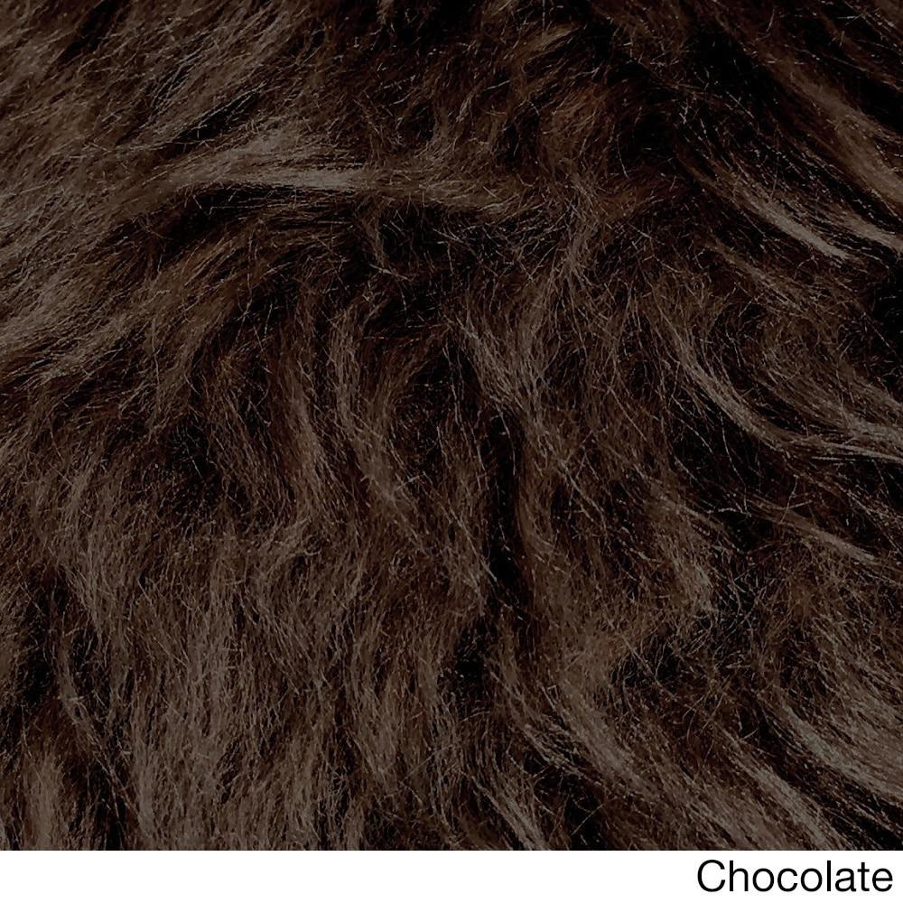 Spectrum Legacy Faux Fur Animal Skin Shag Rug (3' x 5') (...