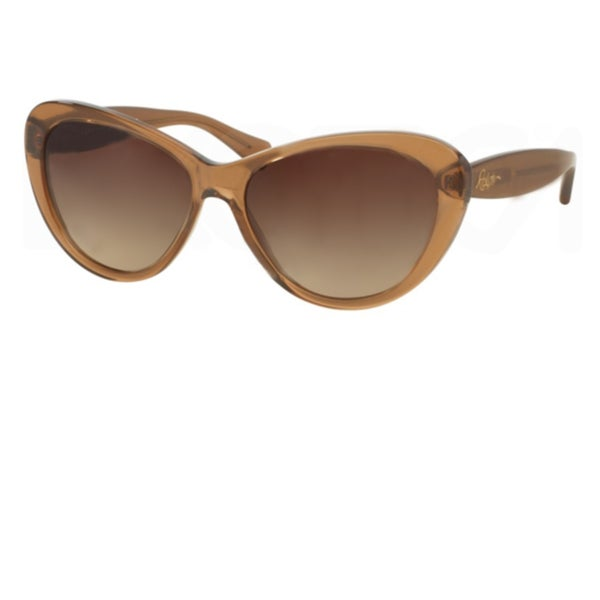 7b2875d7fe Shop Polo Ralph Lauren Cateye RA5189 Womens Brown Frame Brown Lens  Sunglasses - Free Shipping Today - Overstock.com - 16586988