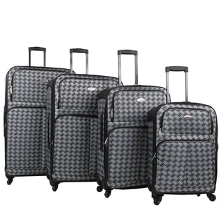 AMKA Braid 4-piece Expandable Spinner Luggage Set