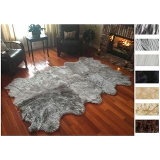 Legacy Faux Sheepskin 10-pelt Shag Rug (6' x 10') - 6'6 x 10'1