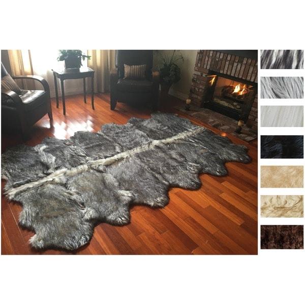Legacy Faux Sheepskin 12-pelt Shag Rug (6' x 12')