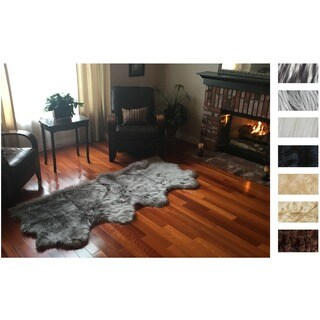 Legacy Faux Sheepskin 4-Pelt Shag Runner Rug (3' x 8') (More options available)