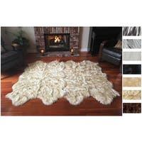 Legacy Faux Sheepskin 8-pelt Shag Rug (6' x 8') - 6' x 8'