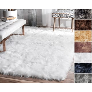 Link to Legacy Faux Sheepskin Shag Area Rug Similar Items in Transitional Rugs
