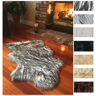 Link to Legacy Faux Sheepskin Single Pelt Shag Accent Rug (2' x 3') Similar Items in Rugs