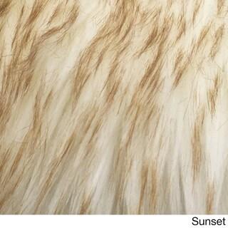 Legacy Faux Sheepskin Single Pelt Shag Accent Rug (2' x 3') (Option: Sunset - Natural)