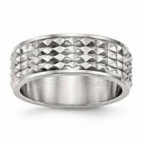 Stainless Steel Polished Studded Ring