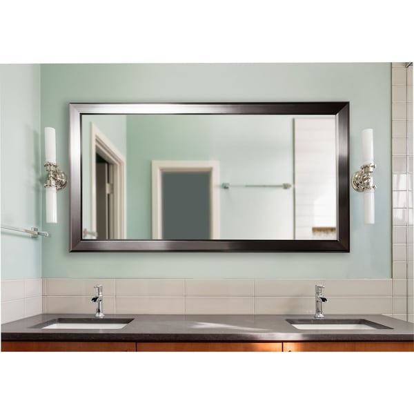 U.S. Made Silver Rounded Large Vanity Mirror