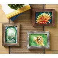 "Set of 3 Square Wood 5x7"" Picture Frames"