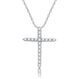 1/4 CTTW Diamond Cross Pendant In Sterling Silver (I-J, I2-I3)