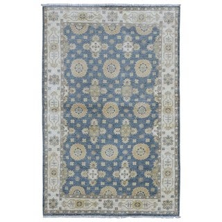 FineRugCollection Handmade Blue Very Fine Pakistan Peshawar Oriental Rug