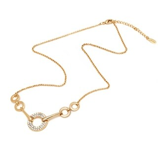 Gold Plated Gold Elements Open Disc Linked Necklace