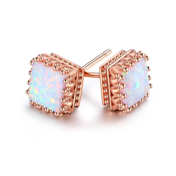 stud opal earrings trendy color halloween sale hot girl rose fire item of angel gold