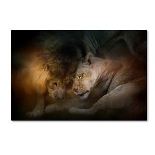Jai Johnson 'Lion Love' Canvas Art
