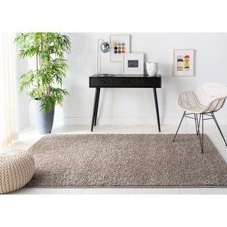 Safavieh New York Shag Casual Solid Grey Area Rug (5'1 x 7'6)