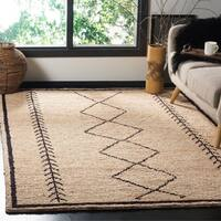 Safavieh Bohemian Contemporary Southwestern Hand-Woven Jute Ivory/ Black Area Rug - 5' x 8'