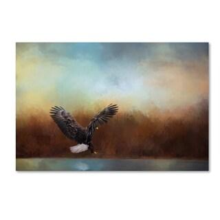 Jai Johnson 'Eagle Hunting In The Marsh' Canvas Art