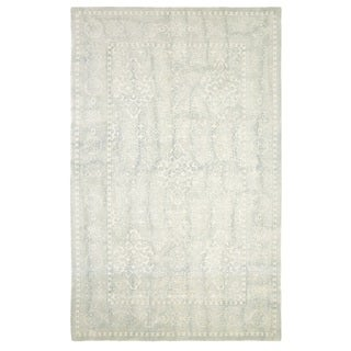 Dynamic Rugs Borgia Light Blue Wool Area Rug (8' x 11') - 8' x 11'