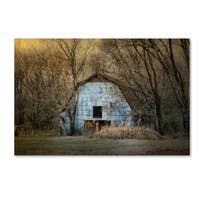 Jai Johnson 'Redtail At The Blue Barn' Canvas Art