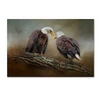 Jai Johnson 'Quiet Conversation Bald Eagles' Canvas Art