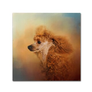 Jai Johnson 'Enjoying The Breeze Apricot Poodle' Canvas Art