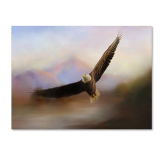 Jai Johnson 'Eagle At The Mountain' Canvas Art