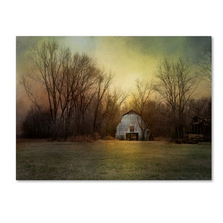 Jai Johnson 'Blue Barn At Sunrise' Canvas Art