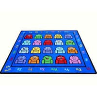 Silly Seats tufted Nylon Children's Educational and Play Area Rug (8' x 10') - multi