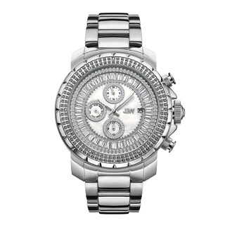 JBW Men's Titus Stainless Steel 0.12 ctw Diamond Watch - silver