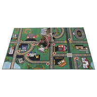 Our Town Tufted Nylon Children's Educational and Play Area Rug - 6' x 9'