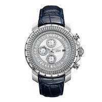JBW Men's Stainless Steel Bezel 0.12ct 12 Round Cut Diamond Watch - BLue