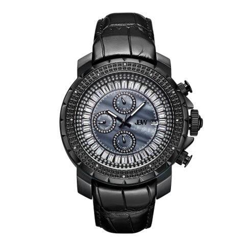JBW Men's Titus Black Ion-Plated Stainless Steel 0.12ct Diamond Watch