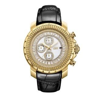 JBW Men's Titus 18k Goldplated Stainless Steel 0.12ct Diamond Watch - Black