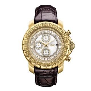 JBW Men's Titus.12 Carat Total Weight 18k Goldplated Stainless-steel Diamond Watch - brown